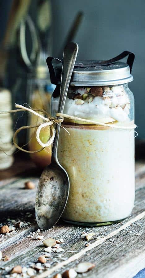Peanut Butter Apple Oats Jar