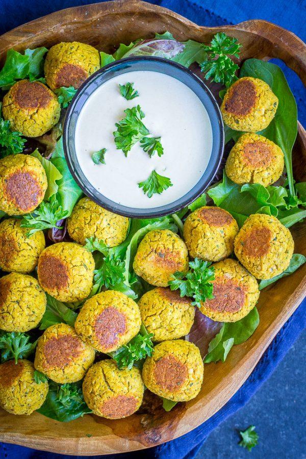 Roasted Butternut Squash Falafel Bites