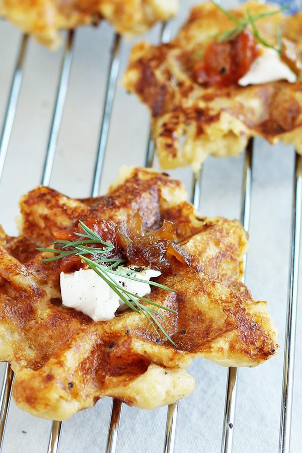 Simple Mashed Potato Waffles
