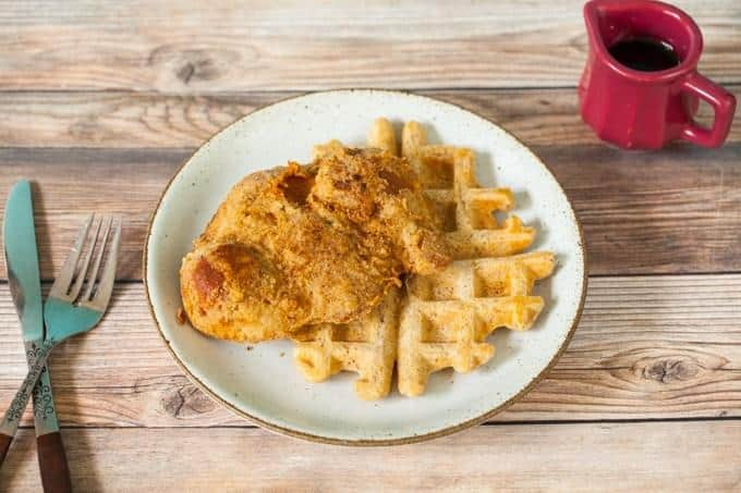 Southern Fried Vegan Chik'n and Waffles