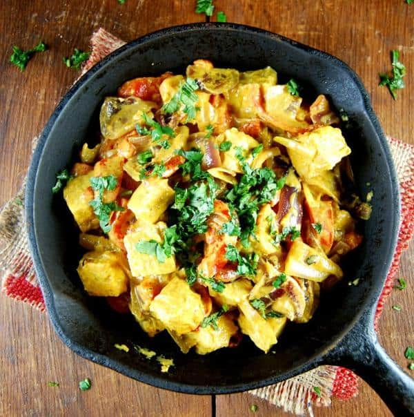 Tempeh Stir-Fry in a Gingery Coconut Sauce