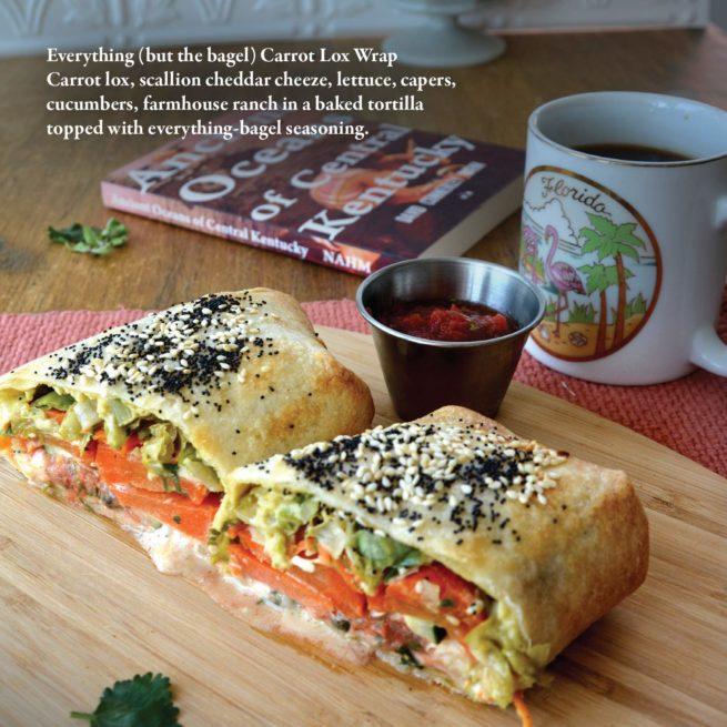 Two Dollar Radio Guide to Vegan Cooking: Carrot Lox Wrap