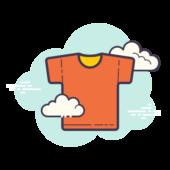 Orange t-shirt icon